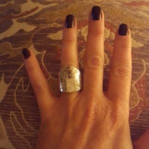 made in Mexico Jewelry - Silver Textured Ring size 6